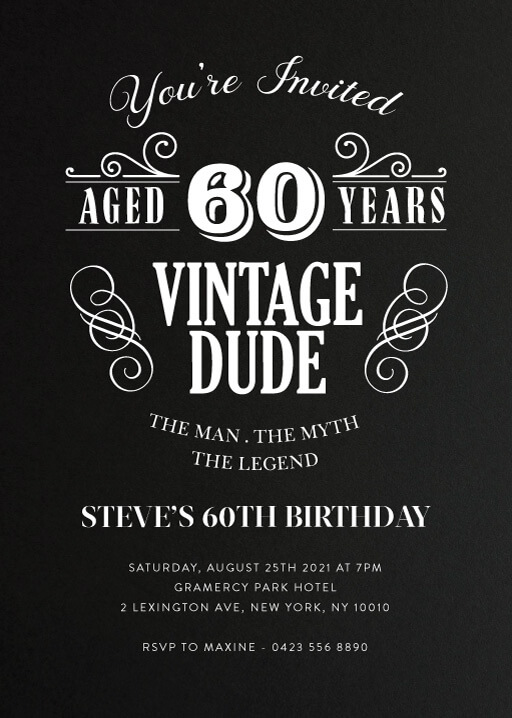 50th birthday invitations customize