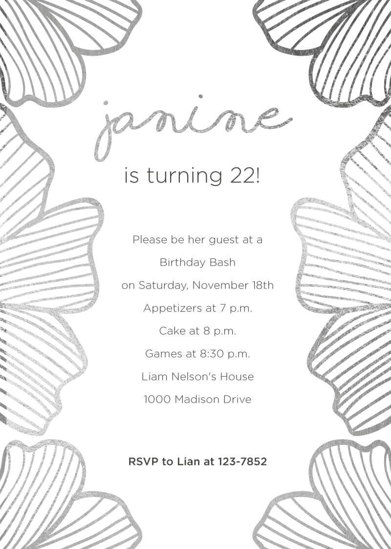 18th birthday invitations customize