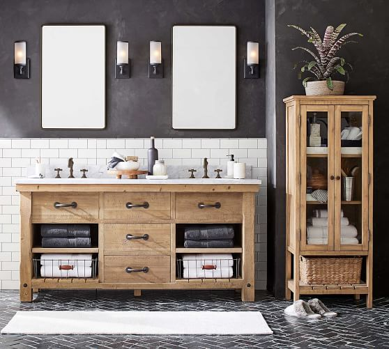 Benchwright 72 Double Sink Vanity Pottery Barn