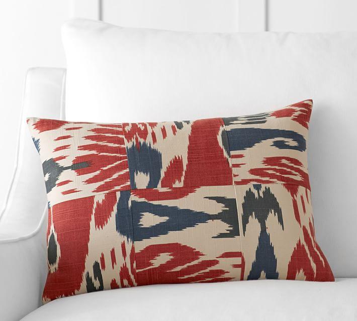 pottery barn diamond ikat lumbar pillow
