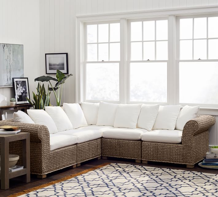 seagrass 5 piece sectional