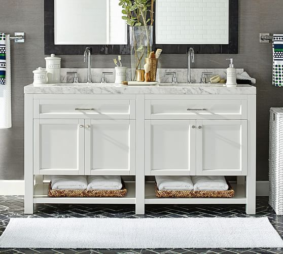 Piedmont 60 Double Sink Vanity Pottery Barn