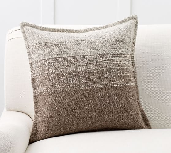 ombre undyed wool pillow cover