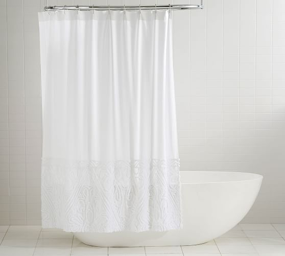 isabelle candlewick cotton shower curtain