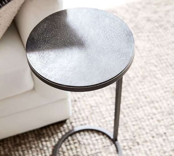 duke 10 round metal accent table
