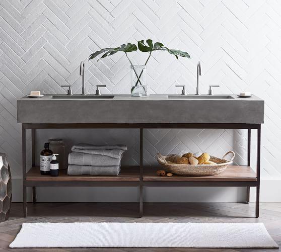 frances 68 concrete top double sink vanity