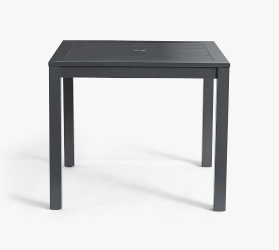 indio 36 metal square patio dining table slate