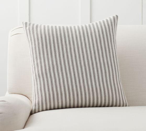 culver grainsack striped reversible pillow covers