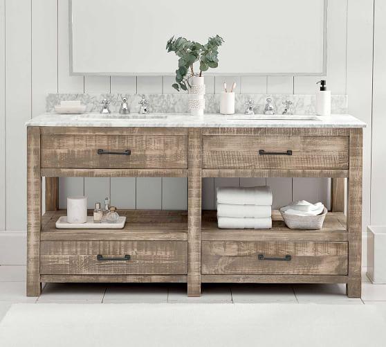 paulsen 63 reclaimed wood double sink vanity