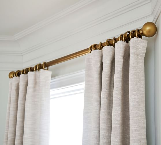 brass curtain rod wall bracket