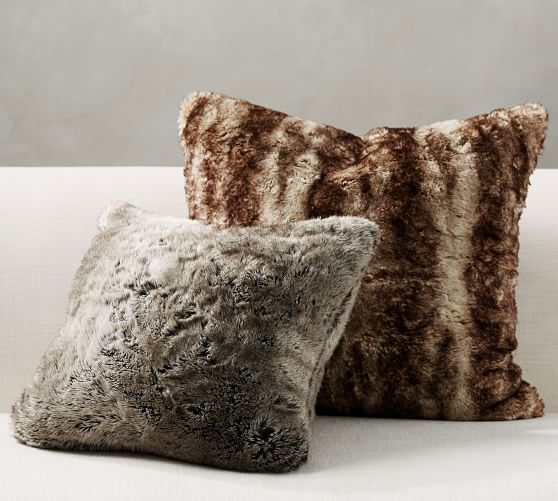 faux fur ombre pillow covers pottery barn