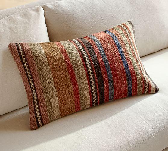 napa stripe lumbar decorative pillow