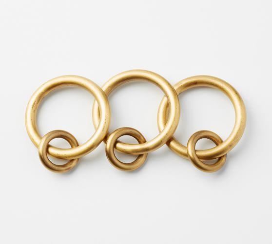 brass curtain round rings