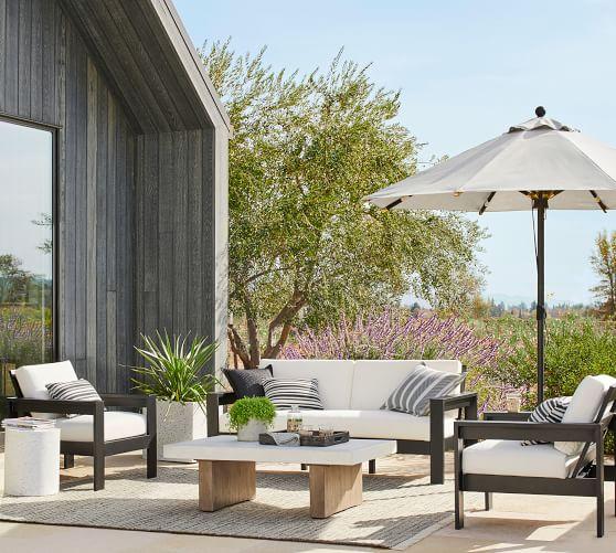 premium 9 round sunbrella outdoor umbrella rustproof aluminum tilt frame bronze