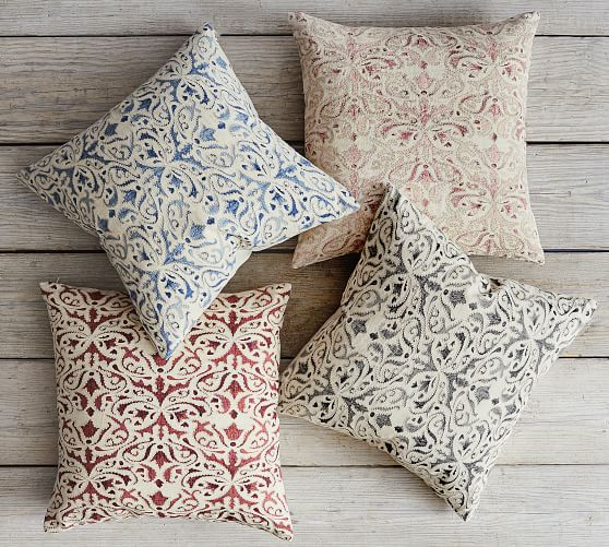 reilley linen embroidered pillow covers