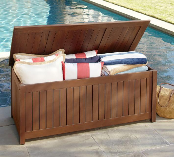 chatham fsc mahogany storage bench honey