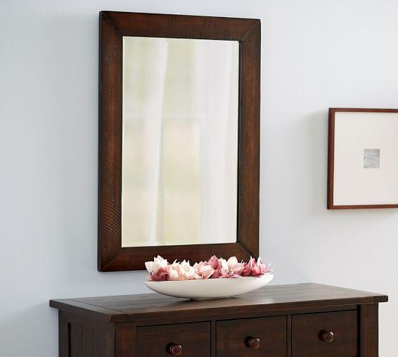 benchwright wood frame wall mirror 30 x 42
