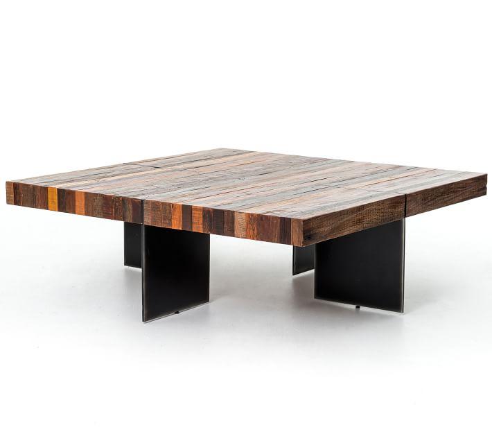 langton 48 reclaimed wood coffee table