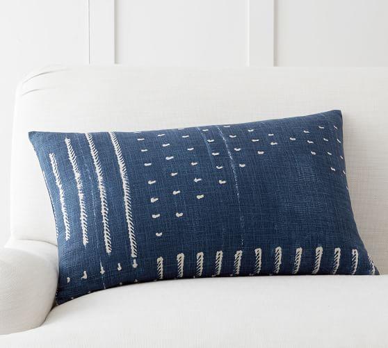 shibori embroidered lumbar decorative