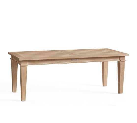 belmont coffee table pottery barn