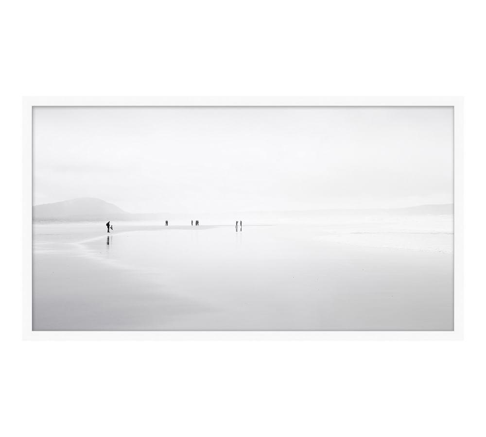 shoreline meditation framed print