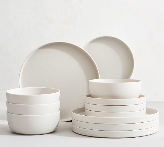 mason modern melamine 12 piece dinnerware set