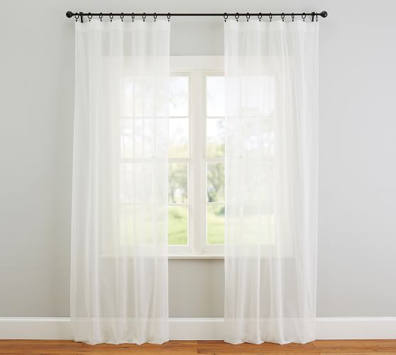 classic voile rod pocket sheer curtain