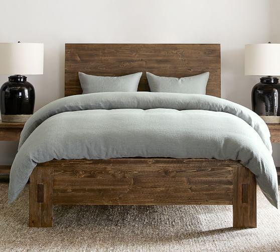 north reclaimed wood platform bed