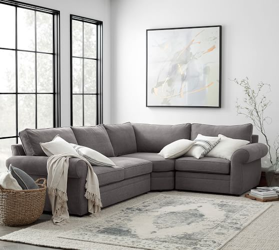 pearce roll arm upholstered 3 piece sleeper sectional with wedge