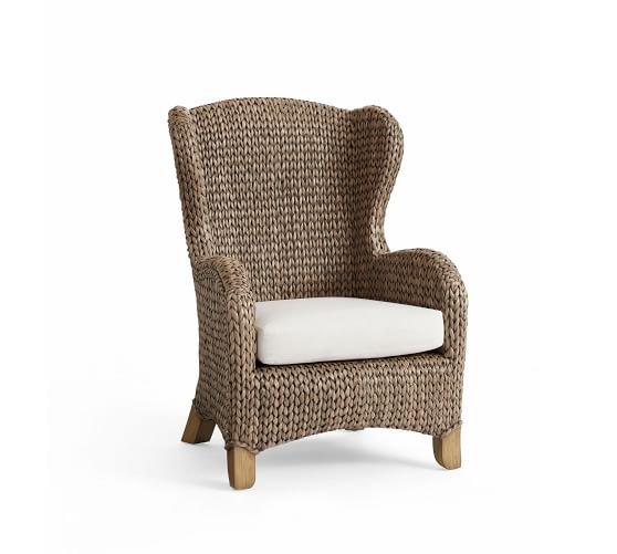 Seagrass Wingback Chair Pottery Barn