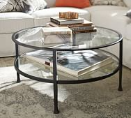 glass wood and metal coffee tables