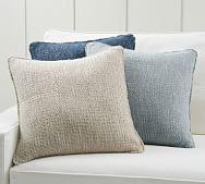 textured decorative pillows pottery barn