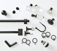 window hardware curtain rods rings