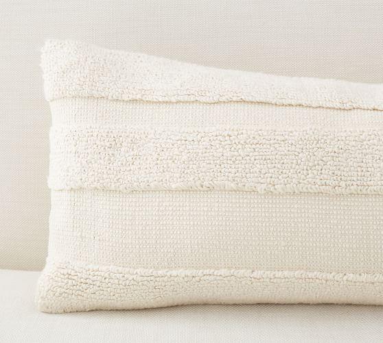 layla textured lumbar pillow cover