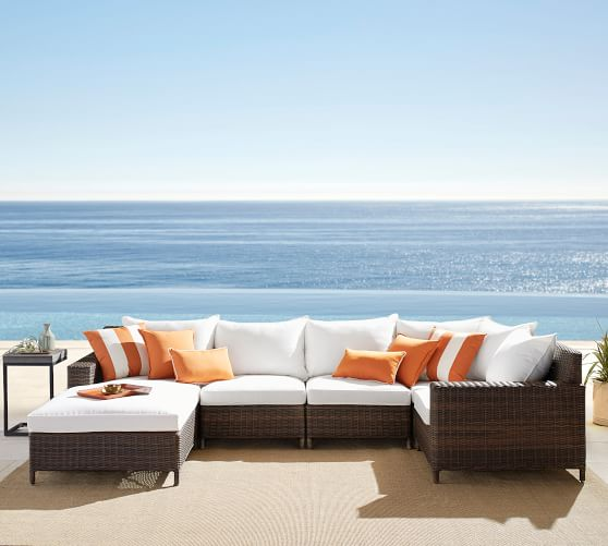 build your own torrey all weather wicker square arm sectional components espresso