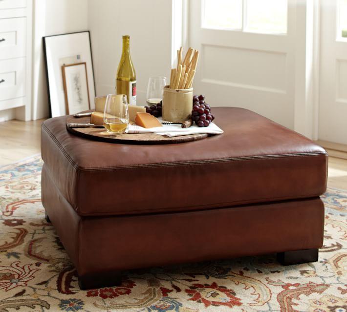 turner leather ottoman