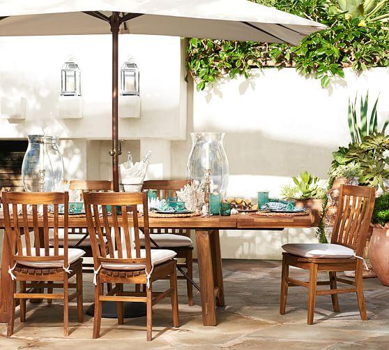 benchwright outdoor 74 extending rectangular dining table