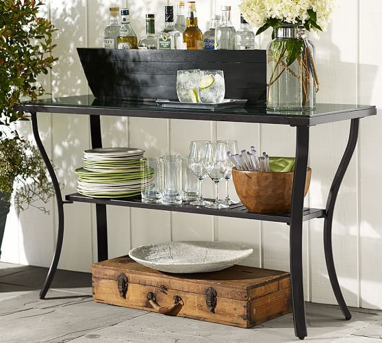 riviera metal console table
