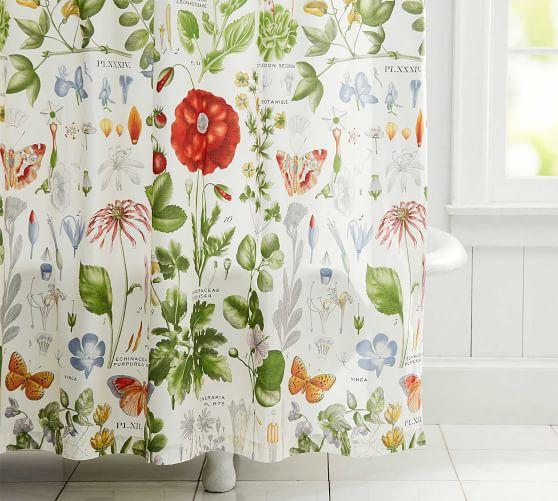 poppy organic shower curtain