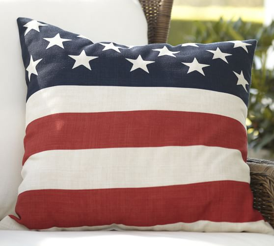 american flag decorative pillow cover