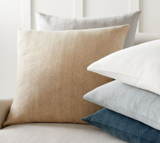 stonewashed cotton pillow cover