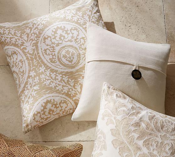 textured linen pillow cover pottery barn