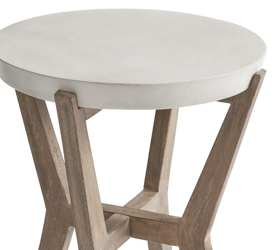 raylan 16 5 concrete outdoor side table