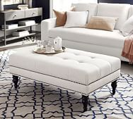 upholstered coffee tables pottery barn