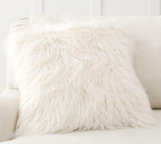 mongolian faux fur pillow covers