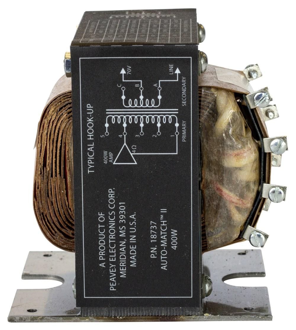 medium resolution of  peavey speaker crossover automatch ii transformer peavey on headphones wiring diagram peavey amp schematics