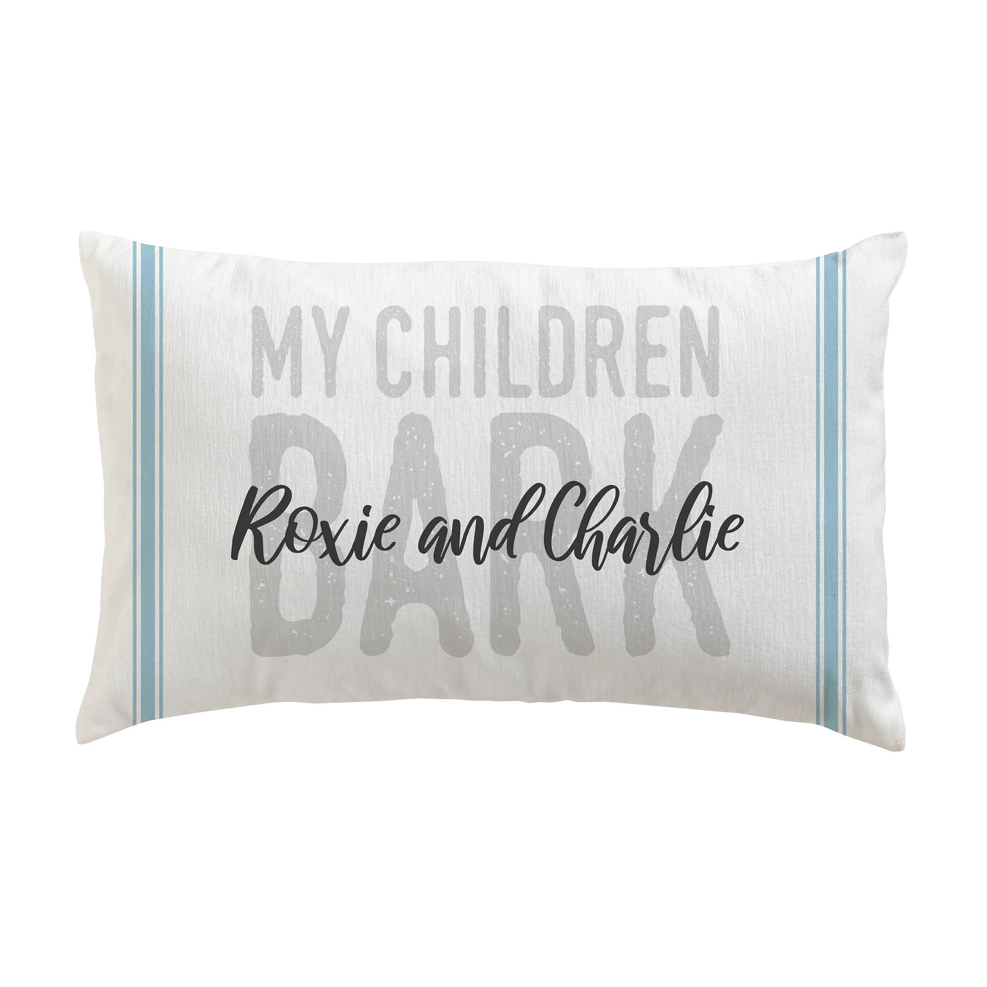 custom personalization solutions personalized my children bark lumbar pillow