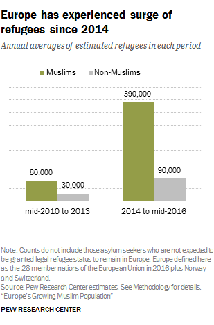 Europe has experienced surge of refugees since 2014