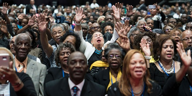 Attendees at the annual session of the National Baptist Convention in 2016. Brendan Smialowski/AFP/Getty Images