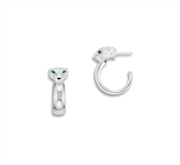 A Pair of Diamond and Gem-set 'Panthère' Earrings, Cartier